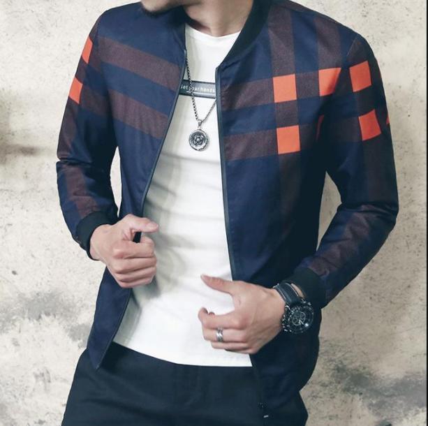 3fa787684f9e 2017 New Fashion Brand Jacket Men Winter Autumn Slim Fit Mens Designer  Clothes Red Men Casual Jacket Slim Plus Size M 5XL Coat Jacket Sale Denim  Jacket With ...