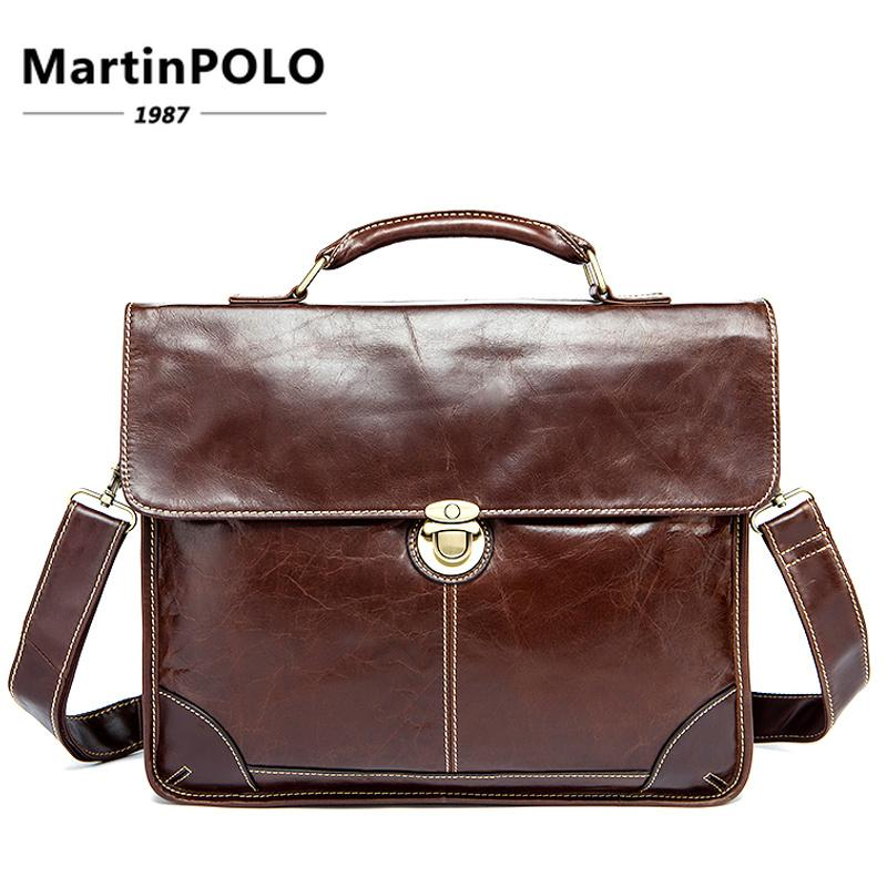 f2f233cc9416 2019 Men S Bag For Documents Leather Briefcase 14   Laptop Handbags Totes  Bags Hasp Messenger Bag Men Business Briefcase MLT7091 Small Briefcase  Womens ...