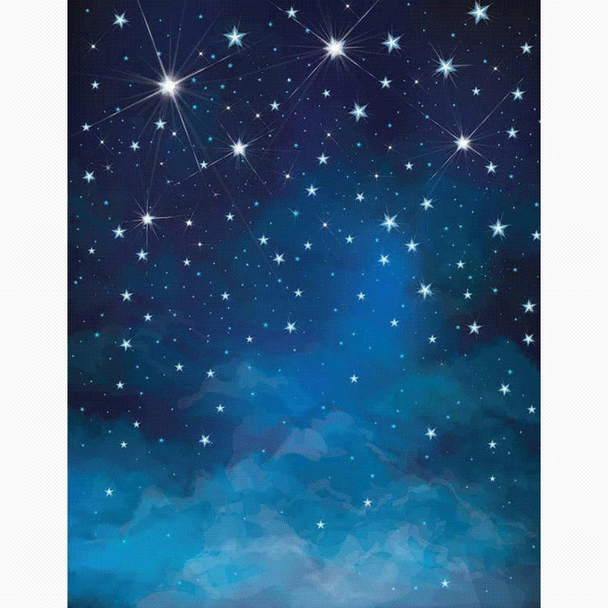 Satın Al Allenjoy Fotografik Arka Plan Uzay Mavi Yıldız Parlaklık