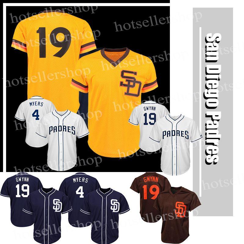 6b9fdf264 San Diego Padres Baseball Jerseys 19 Tony Gwynn 4 Wil Meyers Cheap ...