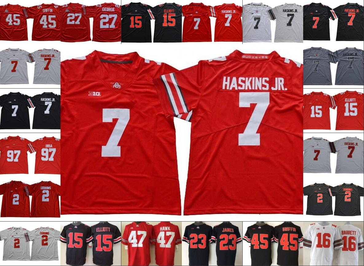 2020 NCAA Ohio State Buckeyes #7 Dwayne Haskins Jr.#97 ...