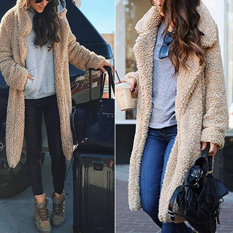c01fd2b3c14 Plus Size 3XL Winter Women Lamb Fur Coat Thicken Warm Fur Long ...