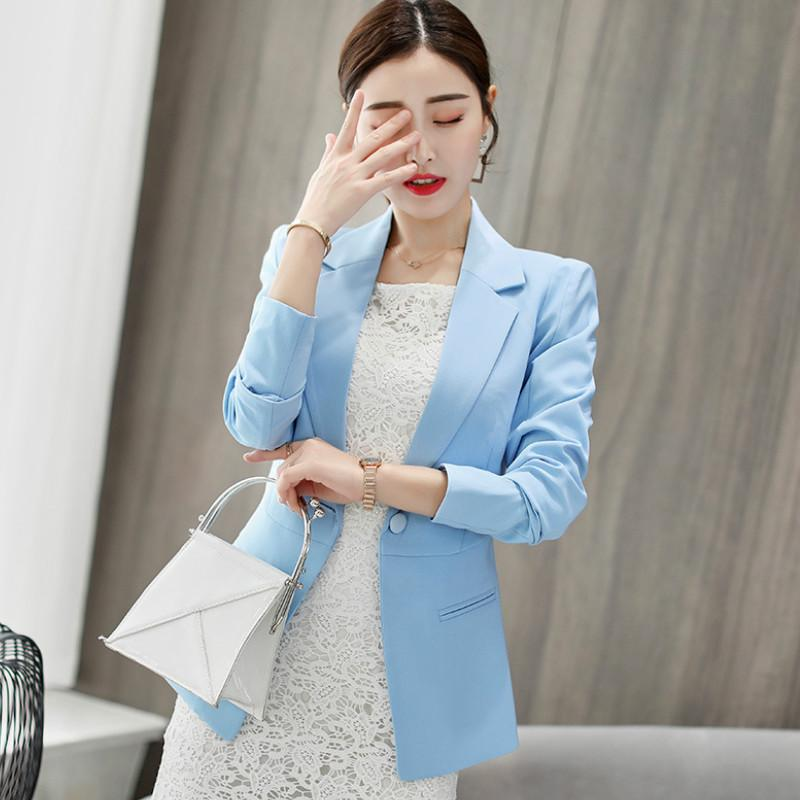 Cheap Sale New Spring Autumn Blazer Suit Women Korean Slim Show Thin Solid Ladies Blazers Suit Gray Blue Green White Small Suit Work Wear Suits & Sets