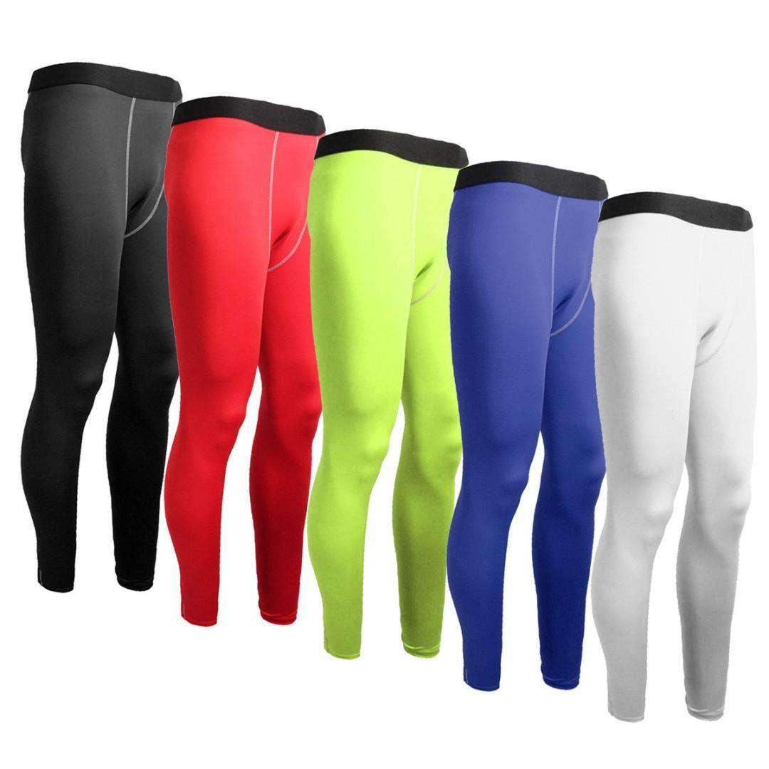 Mens Football Compression Long Pants Sports Underwear Base Layers Tights Gym Trouser Running Yoga Exercise Fitness Dance Dresses