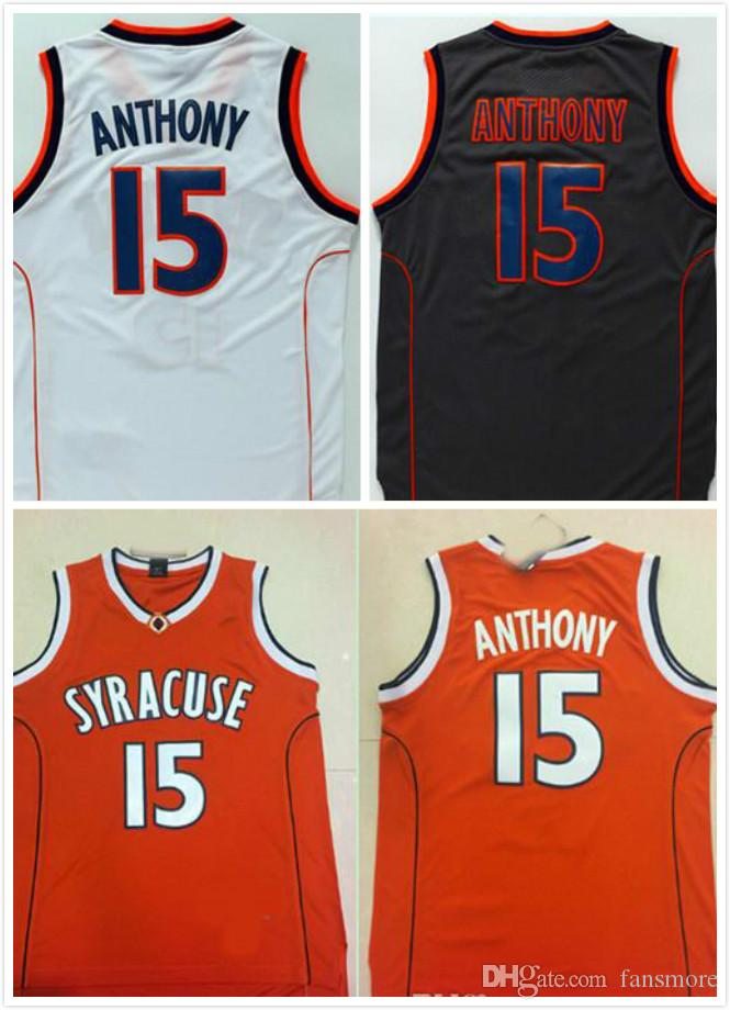 a0a196d2dd2 2019 Men Syracuse College NCAA Jersey #15 Carmelo Anthony Jersey Black  White College Basketball Jerseys From Fansmore, $14.21 | DHgate.Com