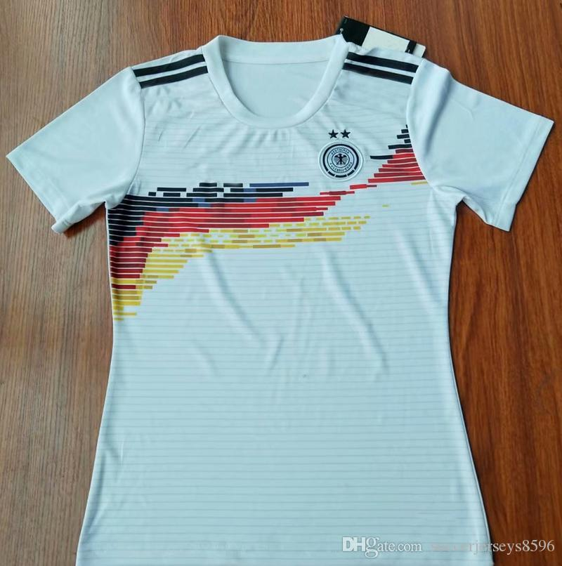 huge discount 0c99c eed6d Germany women home Soccer Jersey 2019 world cup Germany female soccer shirt  2019 2020 OZIL MULLER KROOS REUS girl Football shirts