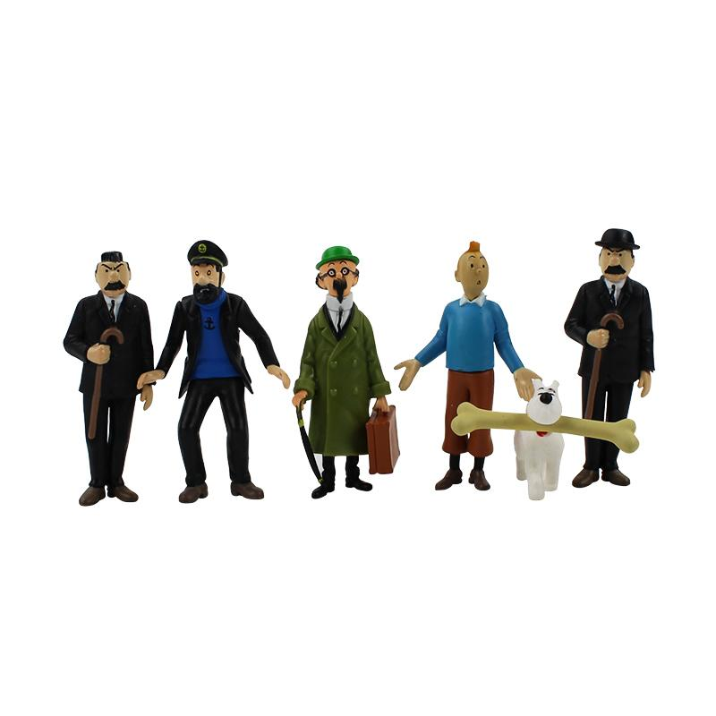 oys Hobbies Action Toy Figures 4-9cm 6Pcs/Lot Anime Cartoon The Adventures of Tintin PVC Action Figures Collectible Model Toys Gifts For ...