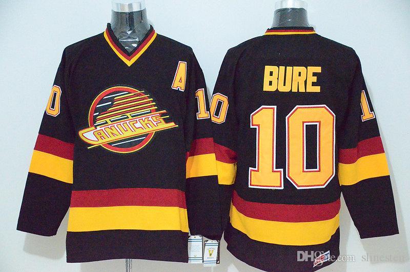 561a8524922 2019 10 Pavel Bure Jersey Men Retro Vancouver Canucks Ice Hockey Jerseys  Vintage 16 Trevor Linden 89 Alexander Mogilny Home Black White From  Slinesten, ...