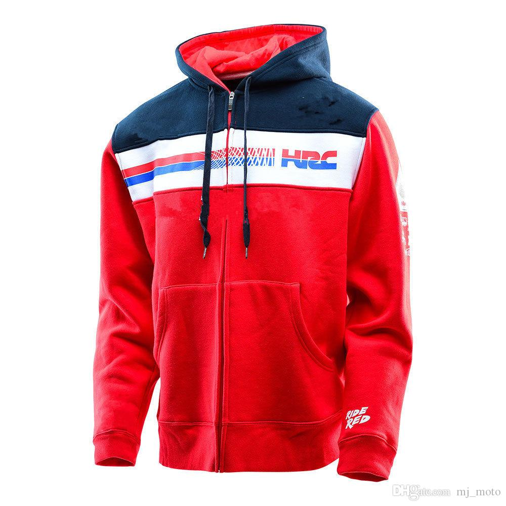 Acquista 2018 Nuova Giacca Moto Honda Hrc Racing Team Series Felpe