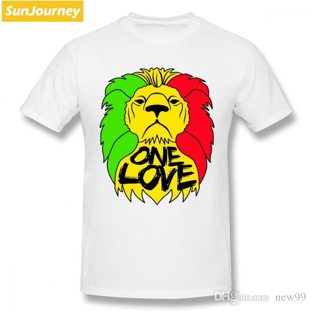 f890f73922 2019 Men S Designer Clothing Tshirt One Love Rasta Lion Men T Shirt New  Style Streetwear Cotton Crewneck Games As Tee Shirts Awesome T Shirts For  Men From ...