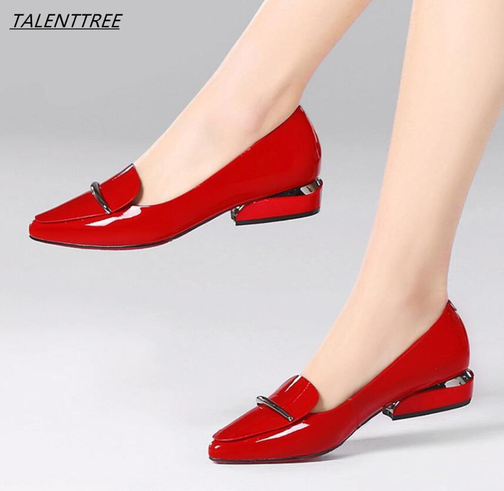 03fdf6803ff7 Elegant Red Pointed Toe Flat Shoes Women Patent Leather Flats Fashion Slip  On Ladies Shoes Lady Slip On Ballet Office Silver Shoes Casual Shoes From  Pinkvvv ...