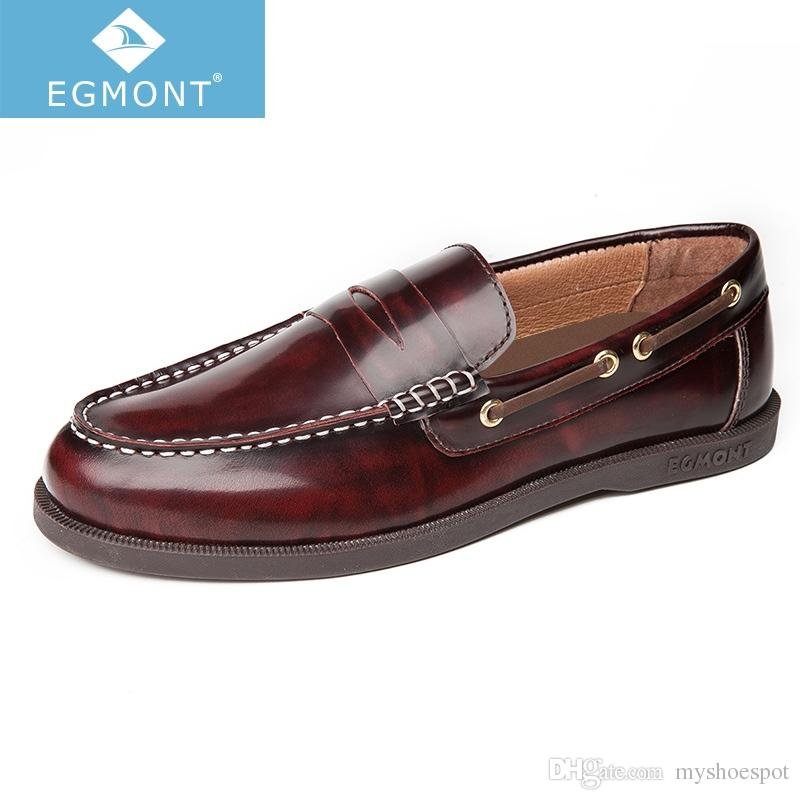 0f81608d8de8b Egmont EG 89 Spring Summer Boat Shoes Mens Casual Loafers Genuine Leather  Patent Solid Handmade Comfortable Breathable #7607 Shoes For Men Sports  Shoes From ...