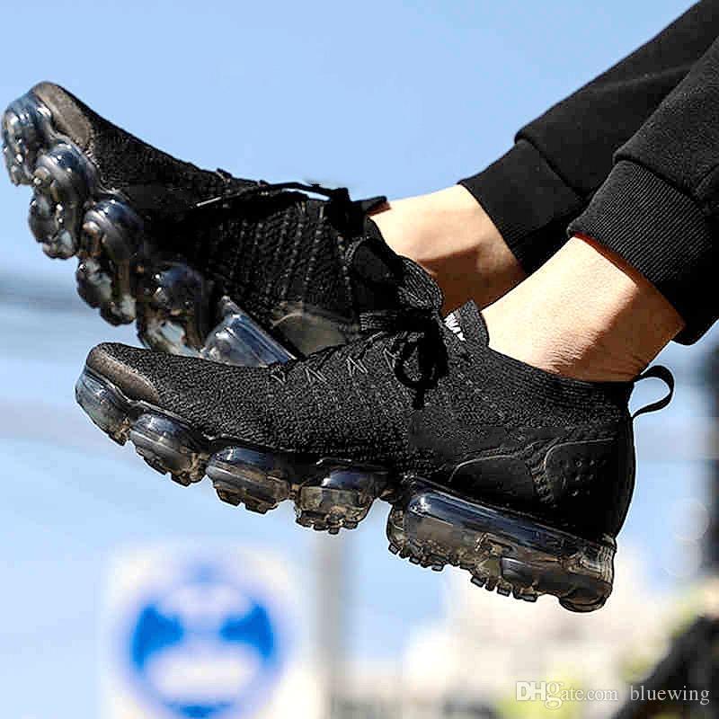 buy popular 7d03c 9855e Acheter Nike Air Max Vapormax 2.0 Flyknit Chaussures De Sport Pour Hommes  Et Femmes De  83.4 Du Bluewing   DHgate.Com
