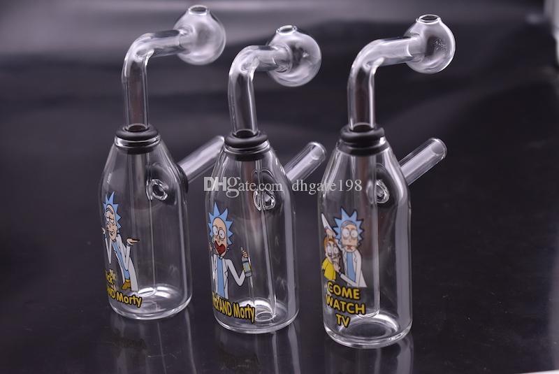 Glass bongs Creative Funny bong water pipe hitman Mini Liquid glass rigs  juice Cereal Box oil Rig