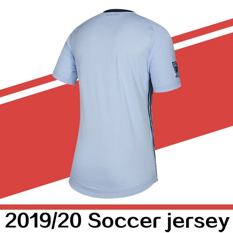 the best attitude fad3d dac4f 2019 2020 Club Sporting Kansas City soccer jersey home ZUSI SALLOI shirts  19 20 MLS Sporting KC RUSSELL ILIE jerseys uniforms football shirt