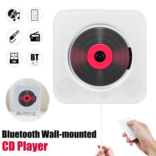 Настенный CD-плеер Объемный звук FM-радио Bluetooth USB MP3 дисков Портативный музыкальный проигрыватель Пульт дистанционного управления Стереодинамик Главная