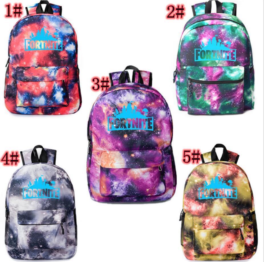 6b96e72ebd99e 45 30 15cm Fortnite Backpack Boys Girls Fortnite Battle Royale Galaxy  Luminous Backpack School Bags 5 Design K2406 Backpack Colors Backpacks For  Children ...