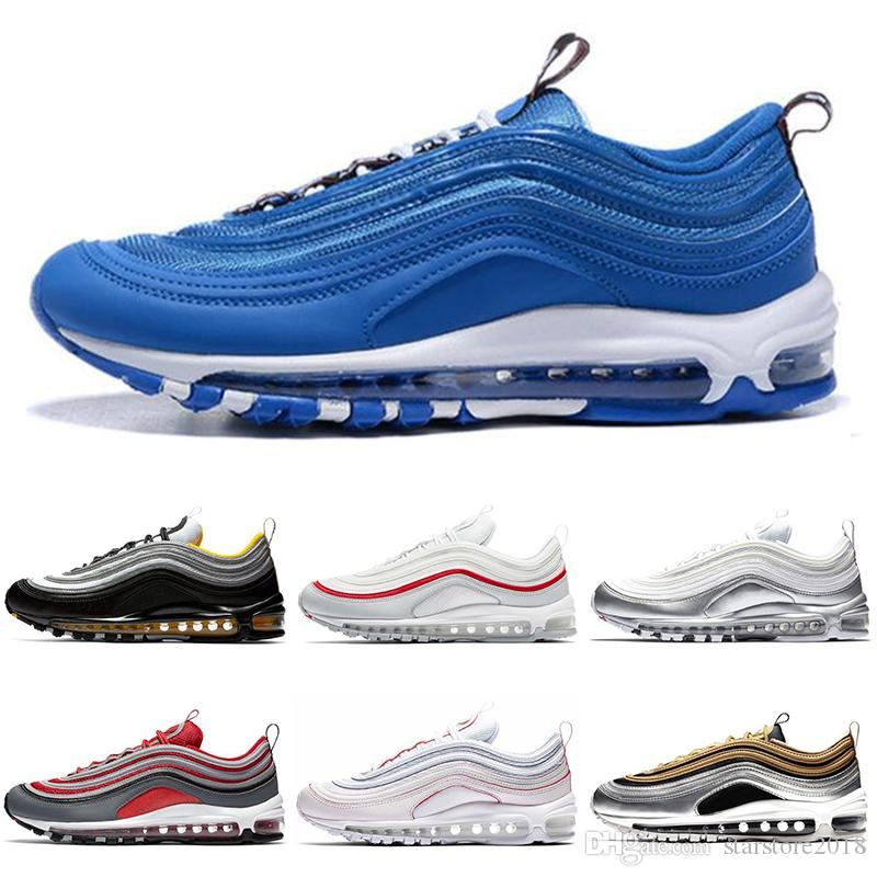 6032f5d9be737 Scarpe Runner Nike Air Max 97 Con Scatola 97 Running Scarpe Oro Bianco Just  Do It Argento Argento Bright Citron Classic 97 Sneakers Sportive EUR 36 45  ...