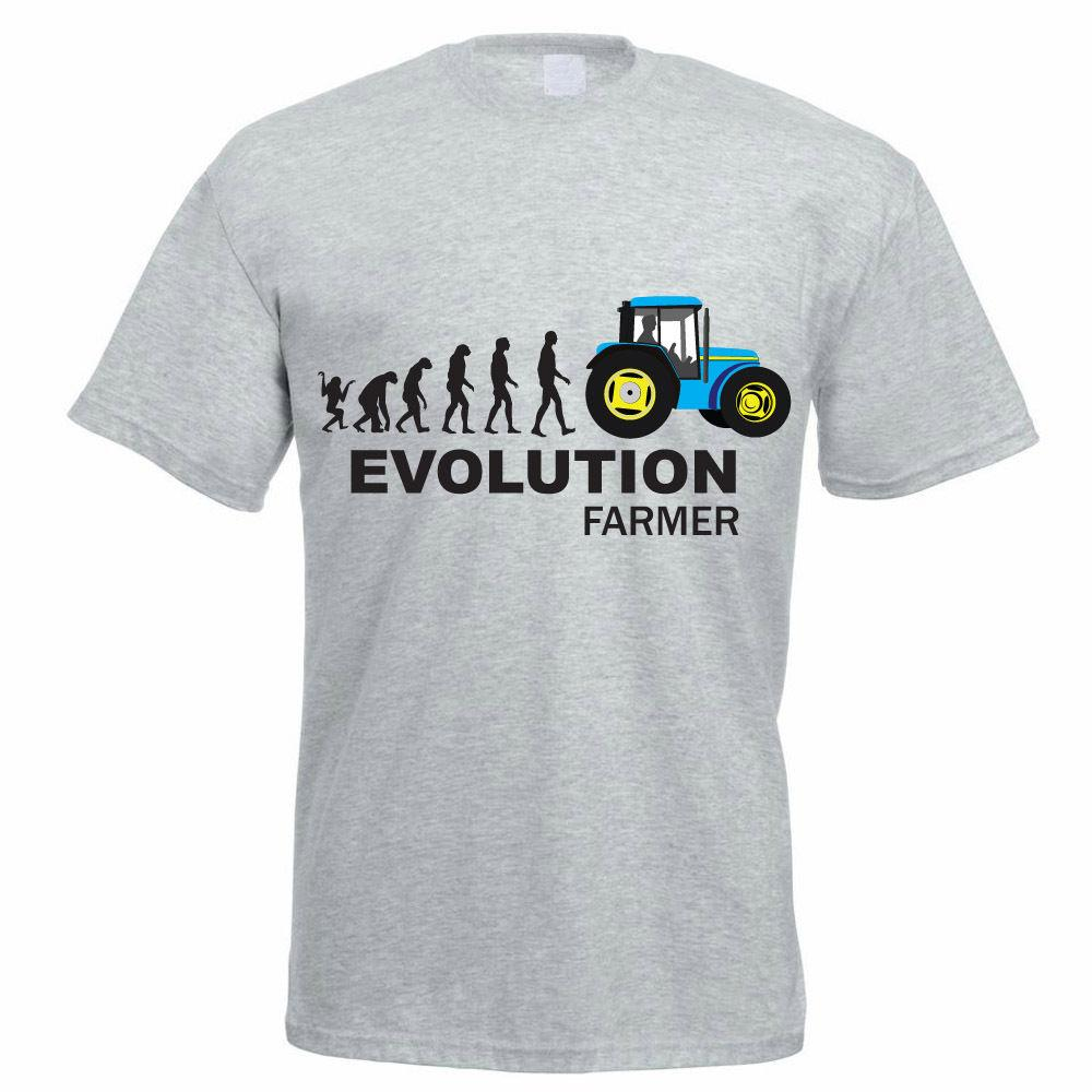 Funny Farmer T Shirt EVOLUTION FARMER Fun Farming Dad Birthday Gift Idea Unisex Tshirt Shirts And On From Stylemixxuk