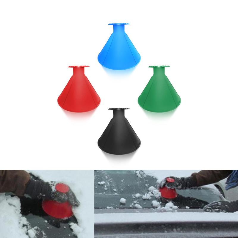 United Outdoor Ice Shovel Cone Shaped Funnel Snow Remover Clean Tool Scrape Ice Scraper Useful Car Windshield Snow Removal Magic Tools