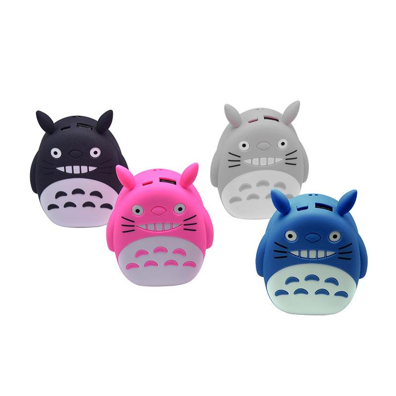 on sale f5c64 3967a cute power bank 8000mAh portable LED totoro power bank cartoon universal  external battery case charger For iPhone 6s Xiao mi