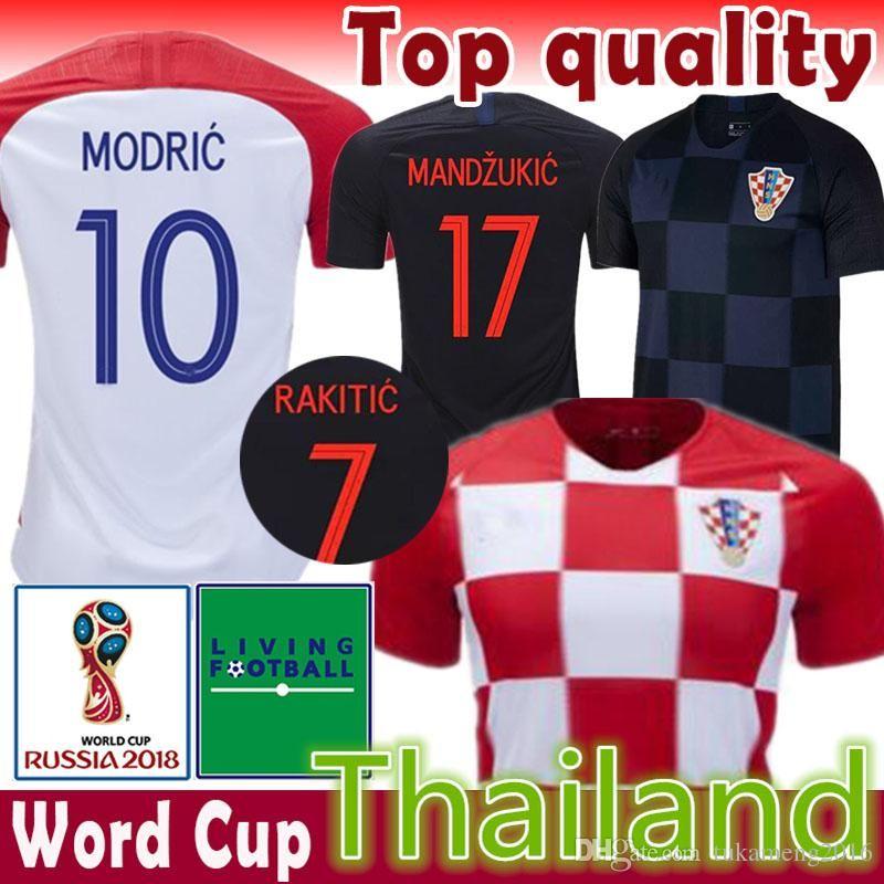 6d58811d9 2019 Cheap MODRIC 10 MANDZUKIC 17 Soccer Jersey PERISIC 4 KOVACIC 8 RAKITIC  7 SRNA 11 BROZOVIC 14 KALINIC 16 2018 World Cup Football Shirt From ...