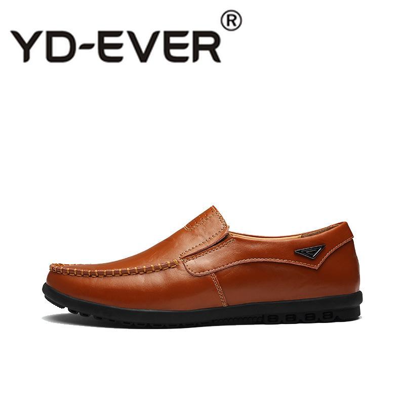 dbffd8b2 Compre Primavera De Cuero De Los Hombres Zapatos Mocasines De Marca De Moda  De Moda De Deslizamiento En Los Zapatos De Los Hombres Al Aire Libre Suave  ...