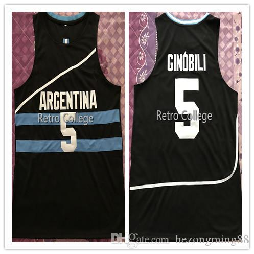 cde8eda7b8 2019 2019 New High Quality #5 Manu Ginobili Team Argentina Navy Bule White  Mens Basketball Jersey Custom Any Name And Number From Hezongming88, ...