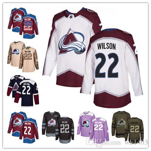 f289aa11 ado Avalanche Jerseys #22 Colin Wilson Jersey Hockey Men Women Youth  Burgundy Red Home White Away Navy Blue Alternate Jerseys From Wk1403,  $37.57 | DHgate.