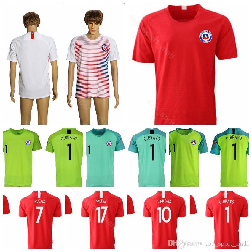 2019 2019 Chile Jersey Men Soccer 1 BRAVO 10 VALDIVIA 14 FERNANDEZ 18 JARA 7  PAREDES Football Shirt Kits Uniform Red White Goalkeeper GK From  Top sport mall ... 62f73716d