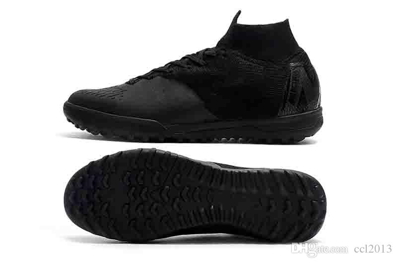 online retailer 2ac47 20ba3 Compre Zapatillas De Fútbol Para Hombre 2019 Para Hombre SuperflyX 6 Elite  TF Zapatos De Fútbol Para Interiores Césped Juvenil Crampones De Fútbol  Botas ...