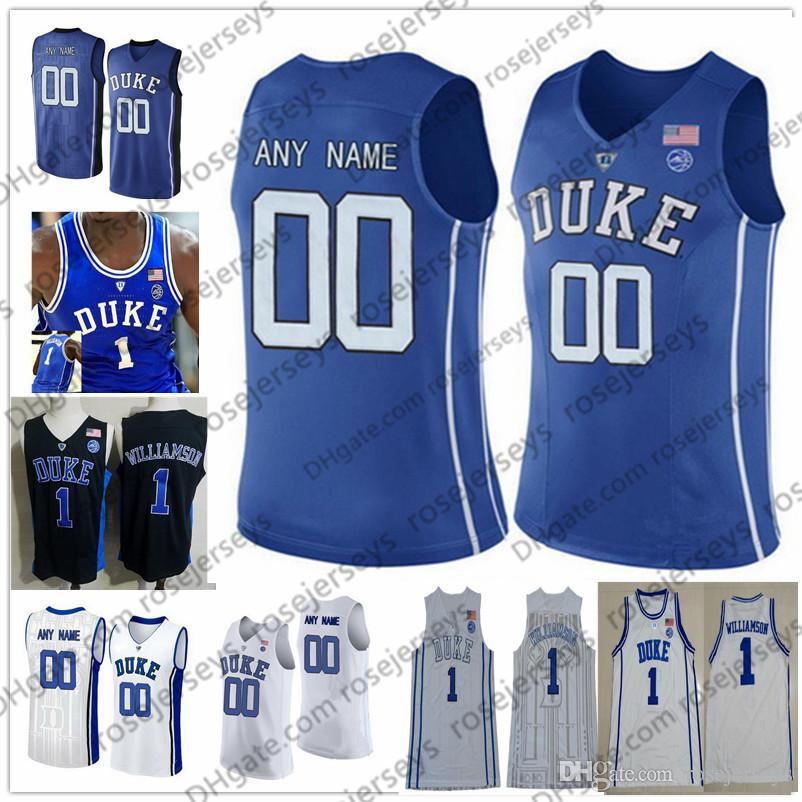 39f6a23fc Custom Duke Blue Devils 2019 Basketball black royal white Any Name Number 3  Tre Jones Reddish Williamson Barrett Bolden O Connell Jerseys