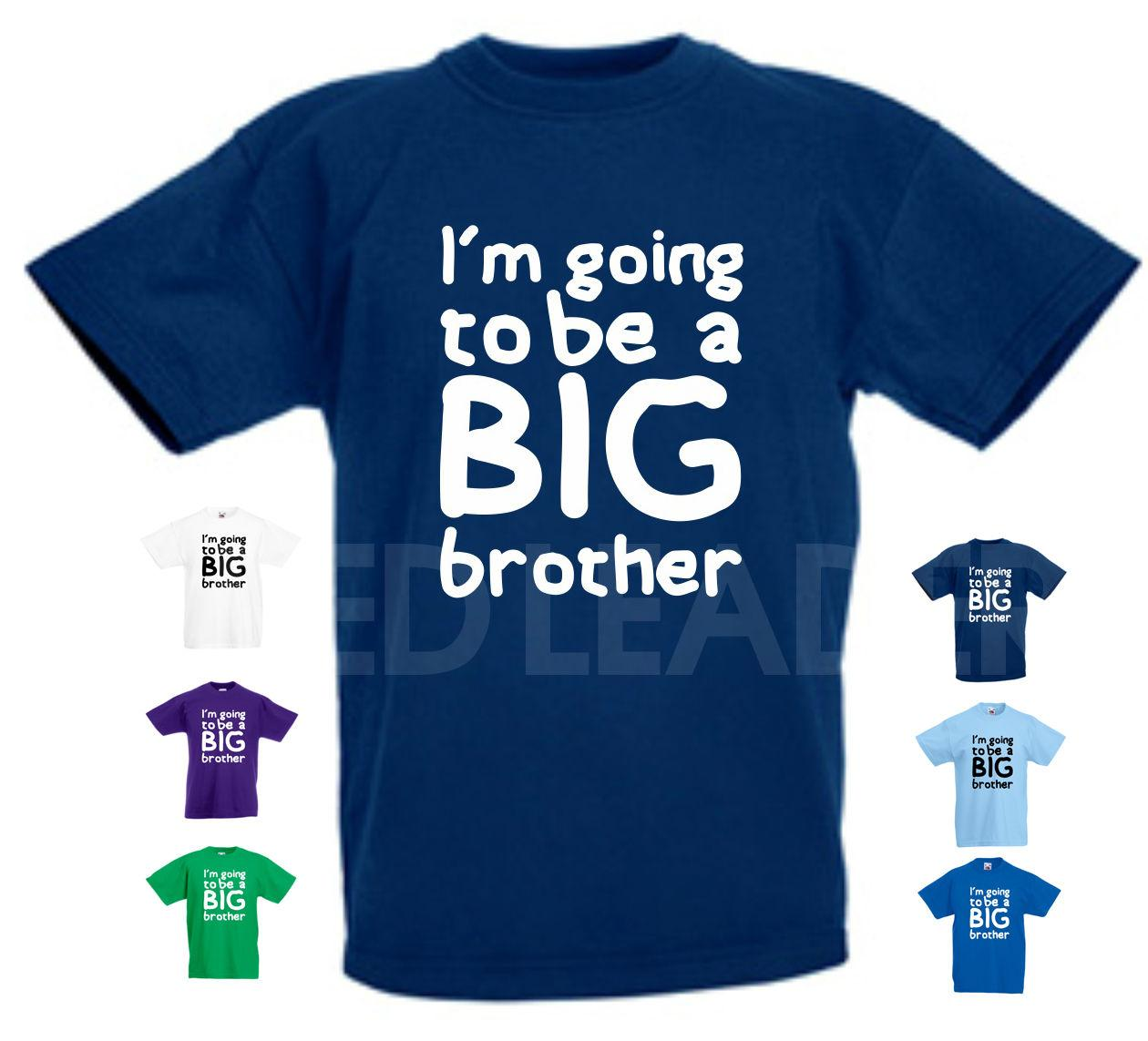 IM Going To Be A Big Brother T Shirt Birthday Gift Kids Surprise BabyFunny Casual Tshirt Shirts And Tshirts From Basementcloseouts