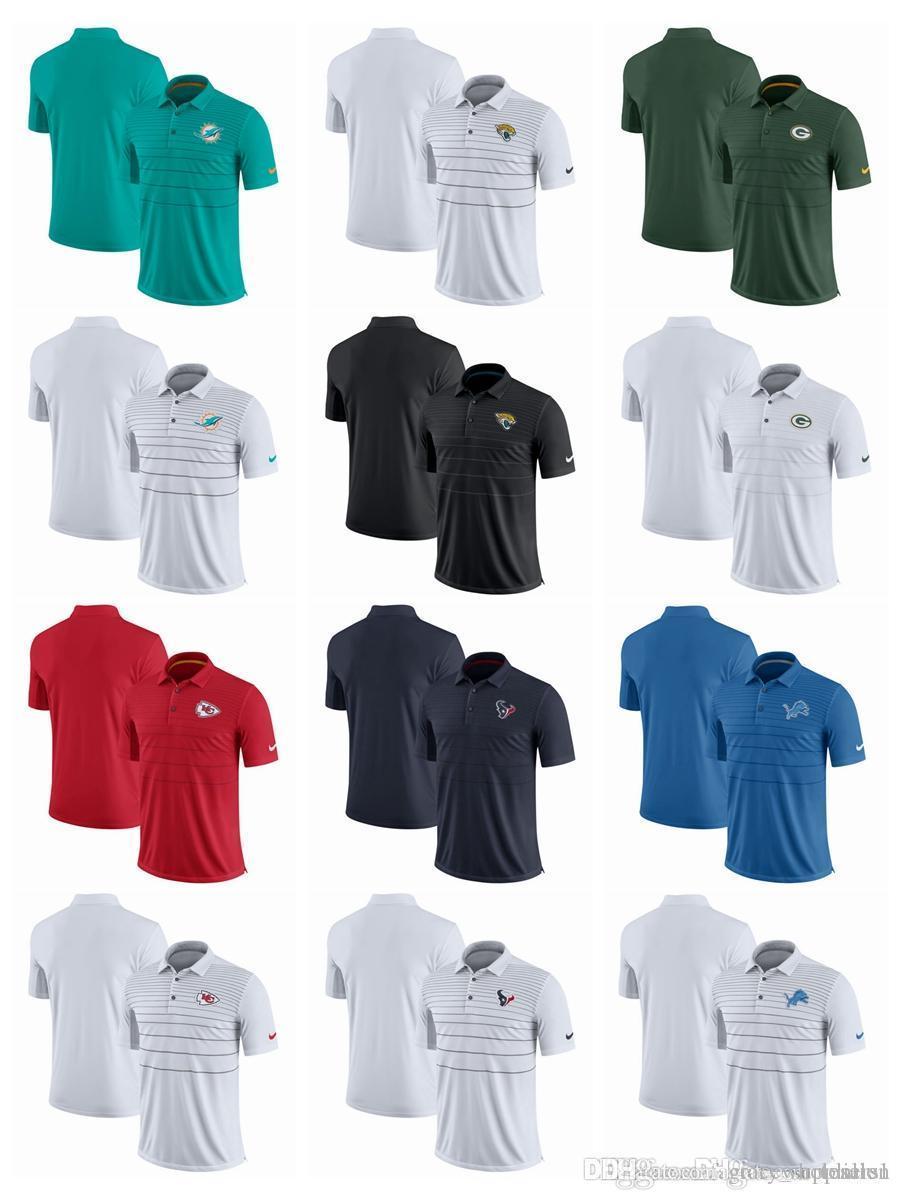 promo code 0993b d939c Men Polo Shirts Houston Texans Jacksonville Jaguars Kansas City Chiefs  Miami Dolphins Detroit Lions Early Season luxury Shirt Polo de marque