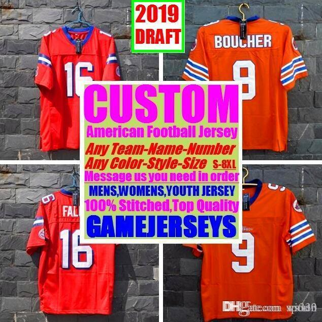 All Stitched Custom american football jerseys Arizona Atlanta college authentic cheap baseball basketball mens womens youth USA 4xl real