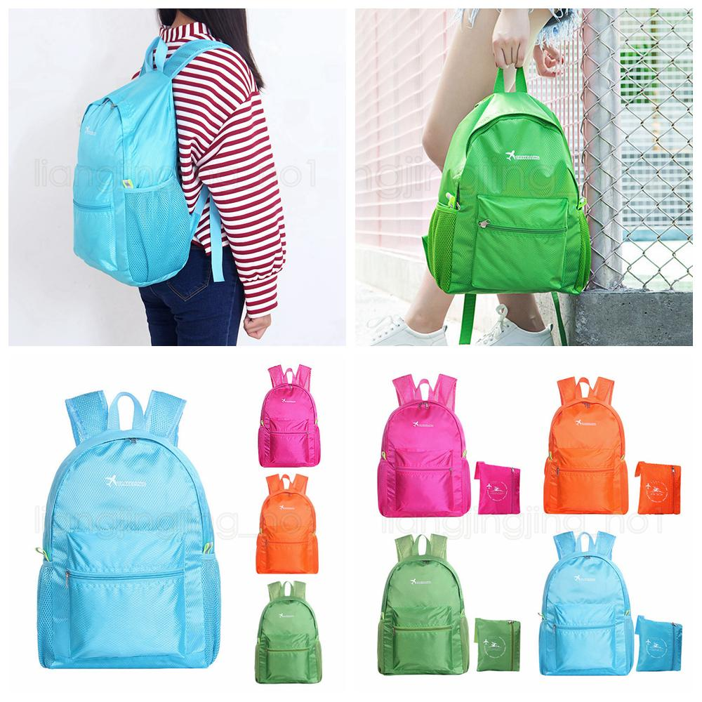 4styles ultra-light travel backpack Outdoor sports foldable backpack breathable orgazier stuff bags school fashion storage bags FFA2778
