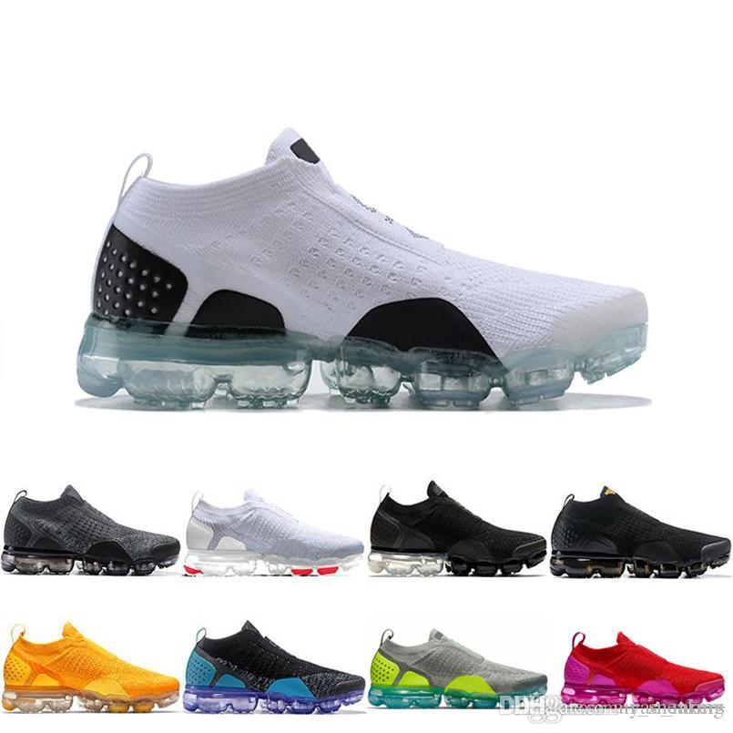 buy online 9b717 6bc15 Nike Air VaporMax Flyknit 2 Flair Cushion носки кроссовки Oreo 2.0 Тройной  черный мужские кроссовки Белый Чистый Платиновый Женский дизайнер Спорт ...