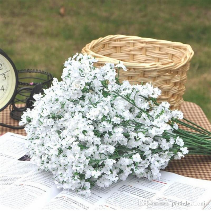 Elegant artificial gypsophila flowers artificial white babysbreath fake silk Flower plant home wedding party home decoration