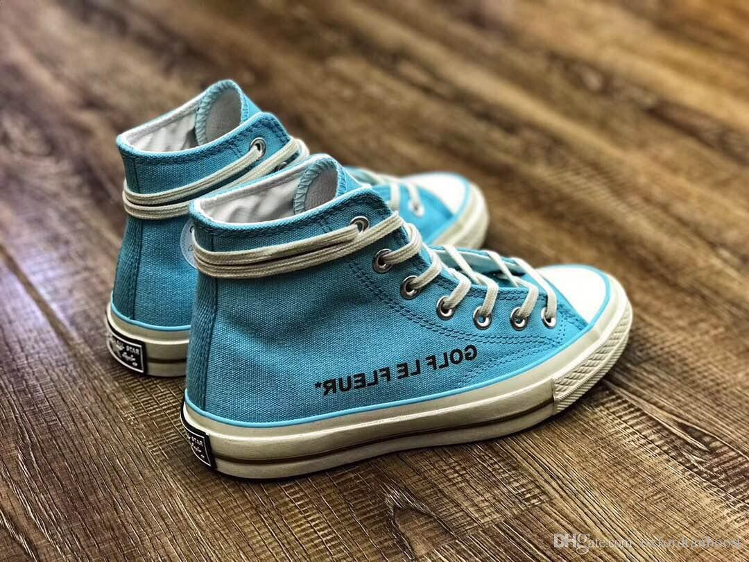 8d85d694adc 2019 Men Conve GOLF Le FLEUR Chuck 70 Canvas Shoes Womens Casual Hi Burlap  Blue 1970s Camp Flog Gnaw Sneakers Designer Trainers From Oxfordtanboost