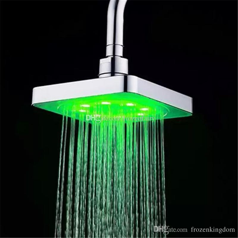 Provided Colorful Led Shower Head 7-color Changing Shower Head No Battery Led Waterfall Shower Head Round Bathroom Showerhead Freeship Home Improvement
