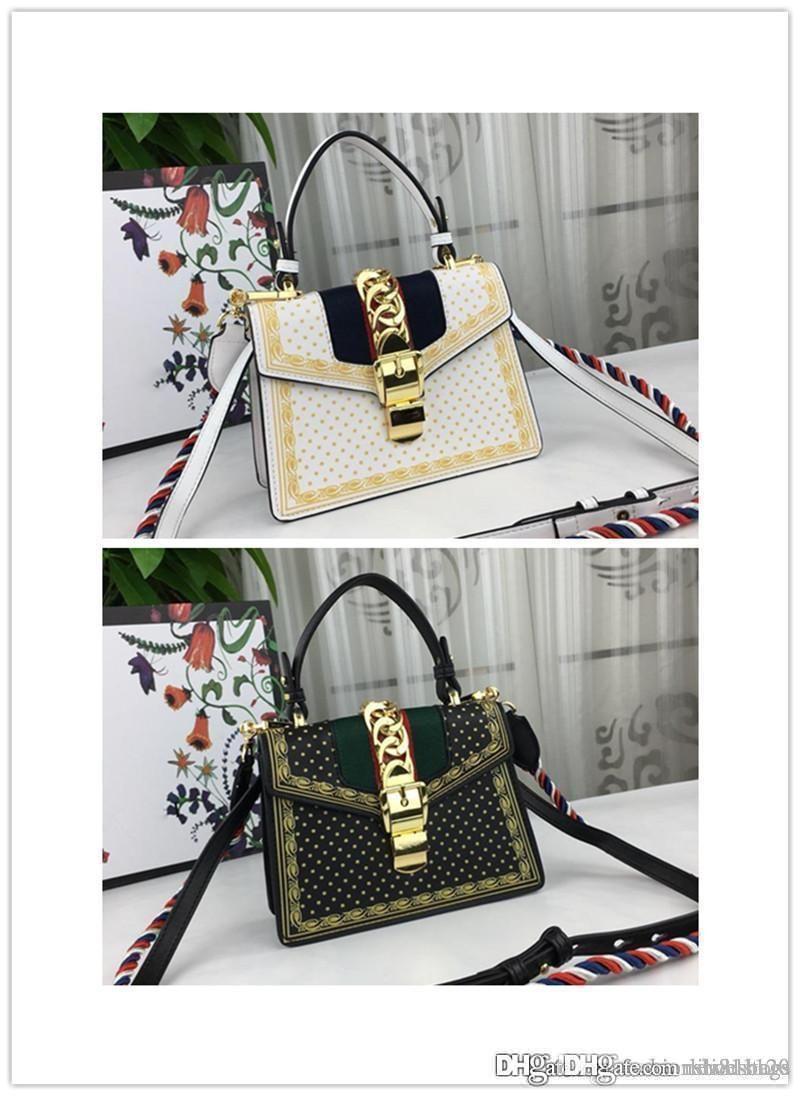 1b8503cc598 00 Sylvie Mini Chain Embellished Mini Sylvie Red Floral Jacquard Top Handle Leather  Shoulder Bag Size  20 14 8 Cm Messenger Bags Satchel From Dakeai999