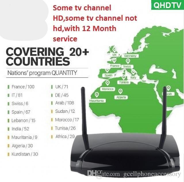 QHDTV IPTV Subscription Android 8 1 R2 4K IPTV Code 1 Year IPTV France  Belgium Dutch Arabic Tunisia Algeria IP TV