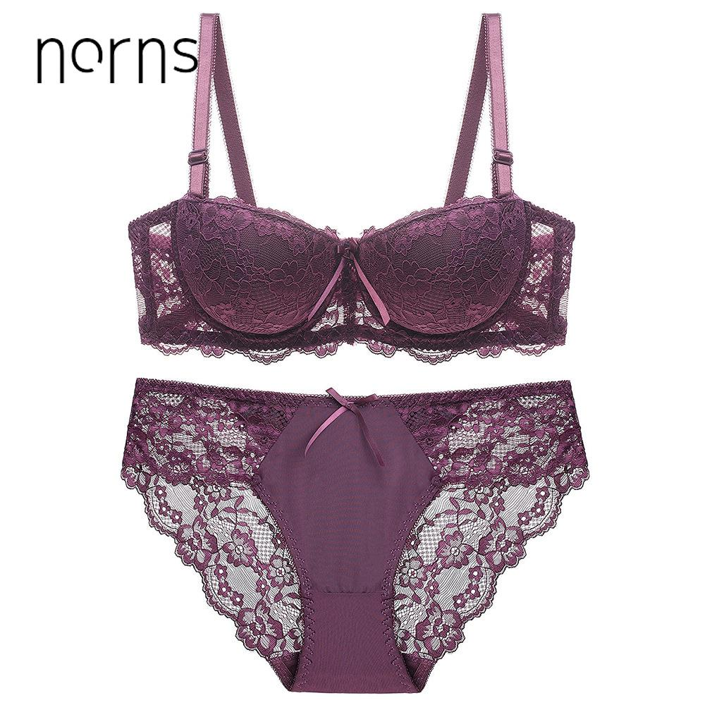 e2eaa26f48 2019 Norns Women S Large Size Underwear Set Transparent Bra Push Up Red Bra  Underwear Lace Embroidery Intimate Bras Sexy Lingerie Set From Xx2015