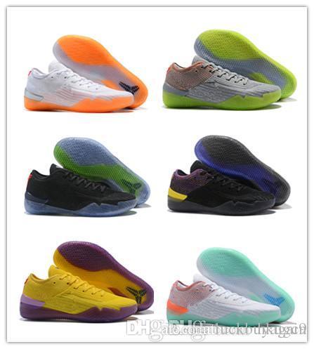 detailing 68cc3 c5b9c Großhandel 2018 Neu Kommen Kobe A. D. NXT 360 Gelb Streik Mamba Tag  Multicolor Herren Basketball Schuhe Low Weaving 12 Wolf Sport Sneakers Größe  40 46 Von ...