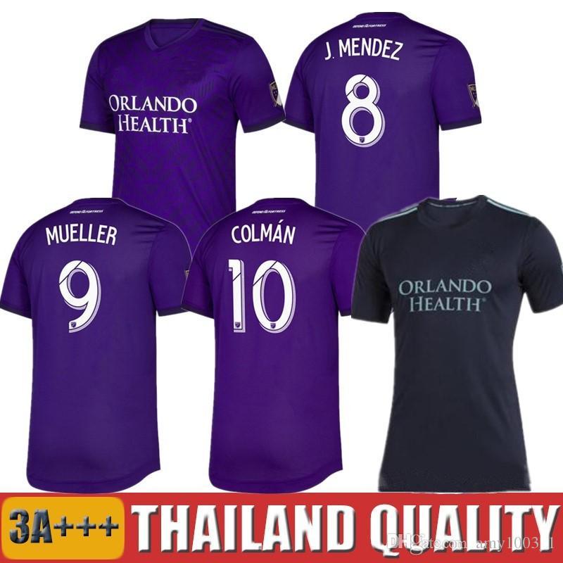 83da2765440 2019 MLS Orlando City Soccer Jerseys Parley Ocean 19 20 COLMAN J ...