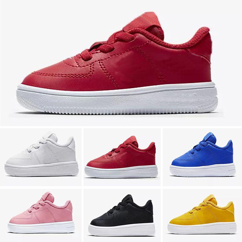 Nike air max force fly 2019 Niños de calidad superior 1 OG Superstar zapatos Oro blanco bebés superestrellas Zapatillas de deporte Originales Super