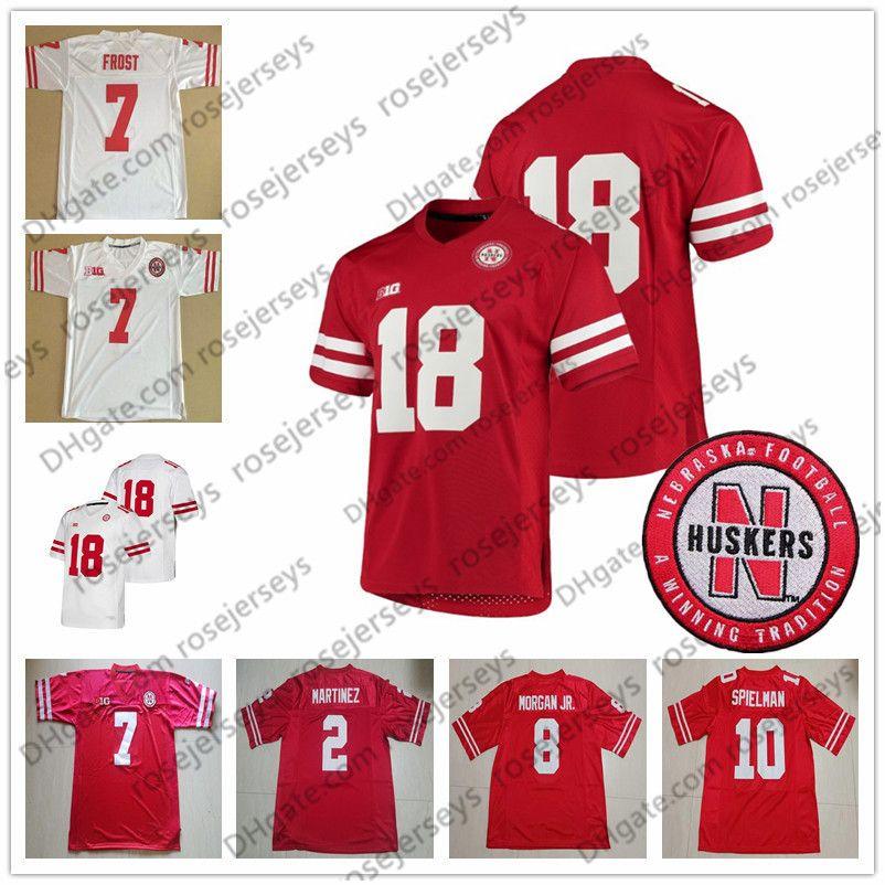 new styles 9bae5 7ede3 Custom Nebraska Cornhuskers Football Red White Stitched Any Name Number 2  Adrian Martinez 8 Stanley Morgan Jr. 10 JD Spielman Jerseys S-4XL