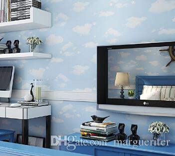 Großhandel Blauer Himmel Weiße Wolken 3D Fototapete Murals ...