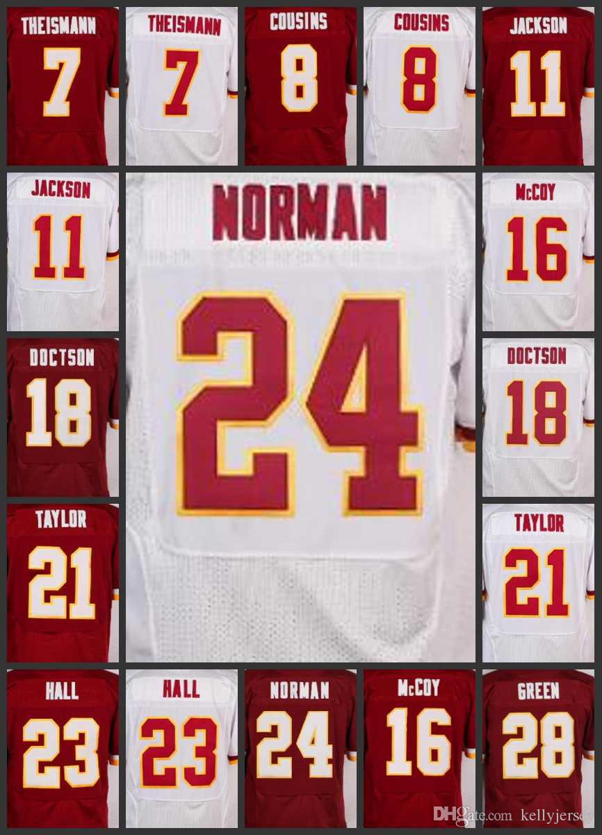 outlet store 0fdcc e370c Washington Men Redskins Jerseys #28 Darrell Green Women 24 Josh Norman 23  DeAngelo Hall 21 Sean Taylor 18 Josh Doctson Youth Jersey