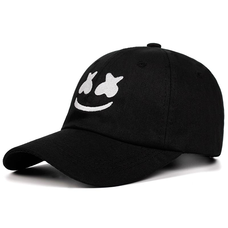 e654eb822fdc4 100% Cotton Marshmello Baseball Cap Embroidery Dad Hat American DJ Chris  Comstock Unisex Snapback Hats Dotcom Alone Face Snapback Cap Cool Hats From  Ekkk